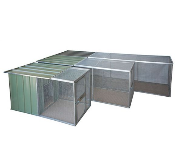 Steel Pet Runs with Hinged Roof
