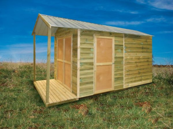 Timber Shed with Gable Verandah