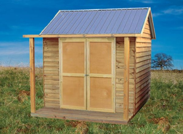 Timber Shed with Side Verandah