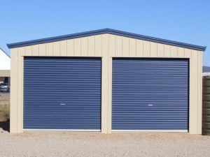 Double Garage with 2 Roller Doors