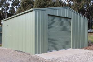 Shed with Offset Roller Door